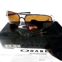 Oakley Plaintiff Squared Polarized Sunglasses Brown Chrome/bronze Brand New Photo