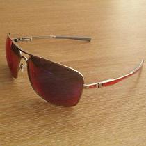 Oakley Plaintiff Squared Polished Chrome Frame With  Red Iridium Lens Photo