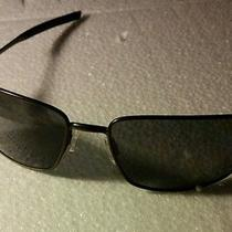 Oakley Polarized Squarewire Sunglasses Oo4075-04 Carbon/grey Like New  Photo