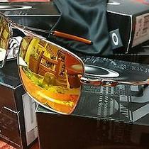 Oakley Polished Chrome/fire Iridium Deviation Sunglasses New in Box Authentic Photo