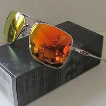 Oakley Polished Chrome/fire Iridium Deviation Sunglasses New in Box Authentic Photo