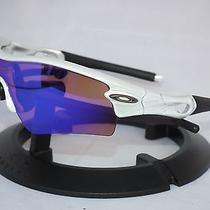 Oakley Radar Path Sunglasses 09-673 White Chrome / Blue Iridium Photo