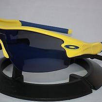 Oakley Radar Pitch Sunglasses 24-140 Team Yellow W/ Blue (Sweden) / Ice Iridium Photo