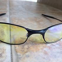 Oakley Square Wire 2.0 Spring Hinge Hi-Intensity Yellow Vintage Rare Photo