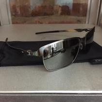 Oakley Tinfoil Silver Mint Condition Black Iridium Sunglasses Fast Free S/h Photo