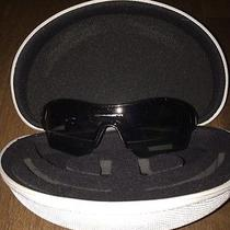 Oakley Unisex Polarized Sunglasses- Black With Black Lens Photo