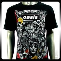 Oasis Alternative Rock Band Music Punk T-Shirt Sz L Men Oa5 Photo