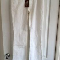 Oasis Amber White Denim Jeans Size 10 32in Leg Bnwt Rrp 42 Photo