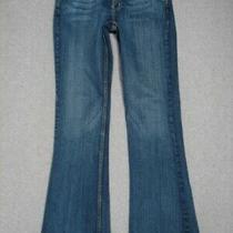 Ob01407 Express X2-W1 Slim Fit Super Lowrise Flare Leg Womens Jeans Sz2r Photo