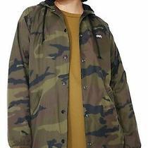 Obey Dominance Hooded Coach Jacket Khaki Size Xxs Uk 8 Rrp 75 Dh170 Hh 18 Photo