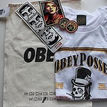 Obey Posed T-Shirt Gift Bag and Stickers Photo