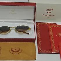 Occhiali Cartier Rivoli Sunglasses  18kt Gold Plated  Photo