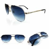 Occhiali Cartier Santos Titane Pilote T8100943 Sunglasses Platinum Plated  Photo