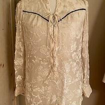 Odd Molly Pristine Anthropologie Silk Velvet Corset Blouse Top Sz 2 Medium Photo
