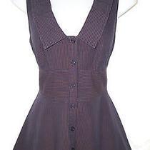 Odille Anthropologie Pinwheel Tank Top Shirt 8 Cotton Striped Cotton Photo