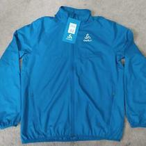 Odlo Element Light Running Windproof Jacket. Men's L. New W/ Tags. Mykonos Blue Photo
