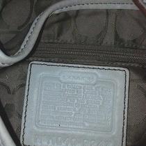 Off White Coach Handbag Purse Photo