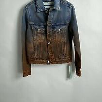 Off-White Ombre Dip Dye Denim Jacket Size 38 Photo