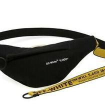 Off-White Waist Bag Yellow Industrial Belt Fanny Pack Crossbody Black Unisex  Photo