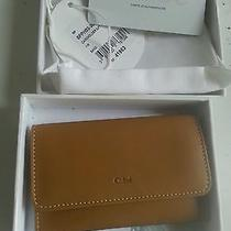 Offer Free Sh New Authentic Chloe Tan Whiskey Leather Card Holder Gift  Grad Obo Photo