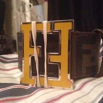 Offical Real Fendi Mustard Yellow Belt Sz 105 Photo