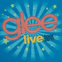 Official Glee Live Tour 2011 Show T-Shirt Stars Blue Medium Gleek  Photo