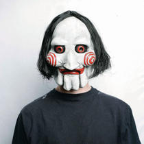Official Saw Jigsaw Puppet Mask Halloween Fancy Dress Photo