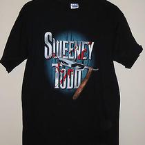 Official Sweeney Todd Med Shirt Movie Tim Burton Horror Barber Razor Blood Photo