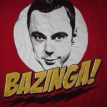 Official the Big Bang Theory Bazinga Sheldon Cooper T Shirt Sz S Tv Show Sitcom Photo