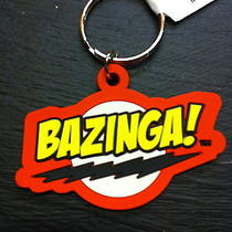 Official the Big Bang Theory Rubber Keyring Bazinga Geek Logo Tv Show Photo