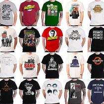 Official the Big Bang Theory T Shirt Bazinga Logo Sheldon Algorithm New Mens Photo