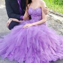Oh Bebe Purple Prom Dress S 0 Photo