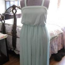 Oh So Shabby Chic Pale Mint Vintage 1950s Pleated Skirt Summer Dress Size 4 Photo