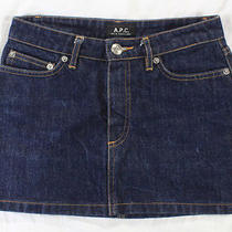 Ohhh Sexy Girlfriendthe Perfect a.p.c. Dark Wash Denim Mini-Skirtxs/s Photo