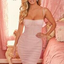 Ohpolly Most Sought After 2020 Unapologetic Mesh Midi Dress in Blush Uk4/us 0 Photo