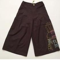 Oilily Pants Gaucho Couture Nwt 175 7 8 9 Boutique 128 Embroidered Chair Brown Photo