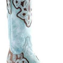 Old Gringo Marrione Cowboy Boots - Brass/aqua Photo