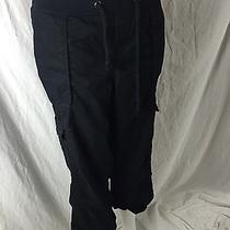 Old Navy 100% Cotton Black Cotton Cargo Pants Womens Xl Photo