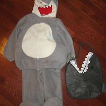 Old Navy 2pc Plush Shark Halloween Costume 2t 3t Nwt Pottery Barn Kids Treat Bag Photo
