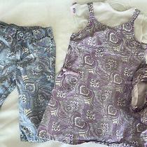 Old Navy 3t Paisley Toddler Girls Tank Dress / Capri Pants  & Tcp White Top 4pc  Photo