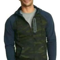 Old Navy Active Mens Dynamic Fleece Full Zip Hoodie Jacket Blue Green Camo Xxl Photo