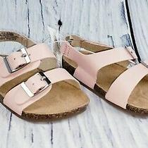 Old Navy Baby Girl Faux Leather Double Buckle Sandals Shoes Blush Size 12-18 M Photo