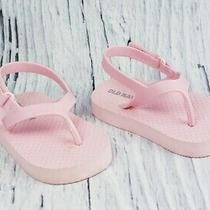 Old Navy Baby Girl Secure Strap Flip Flops Sandals Shoes Size 12-18 M Blush Pink Photo