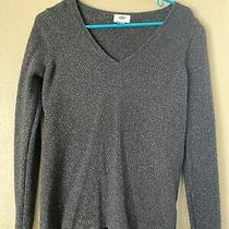 Old Navy Blsck Sparkle Cotton Blend Sweater Small Womens Photo
