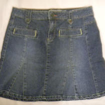 Old Navy Blue Denim Skirt Size 4 Pre-Owned Photo
