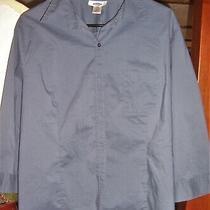 Old Navy Blue/gray Lightweight Long Sleeve Button Up Shirt/blouse Womens Xxl Photo