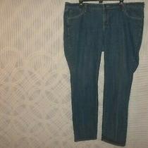 Old Navy Blue Multi Pocket Spandex Stretch Straight Jeans 18 R 42x30 R 10 762u Photo
