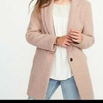 Old Navy Blush Pink Boucle Coat Jacket Size Medium Photo