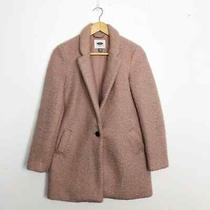 Old Navy Blush Pink Cozy Textured Teddy Cocoon Car Coat Women's Size Xs Pockets Photo