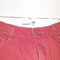 Old Navy Boys Cargo Type Pants Size 10 Slim Red Adj Waist Band Photo